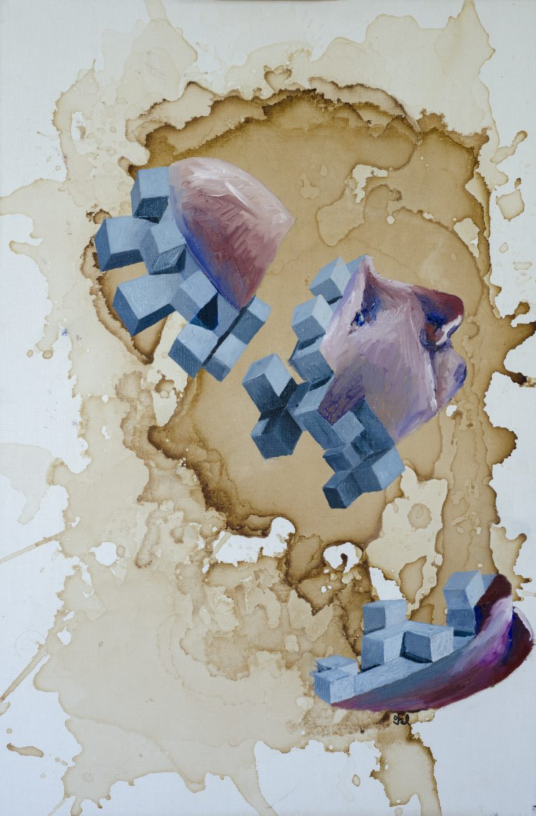 Abstract oil painting by Petr Vorel
